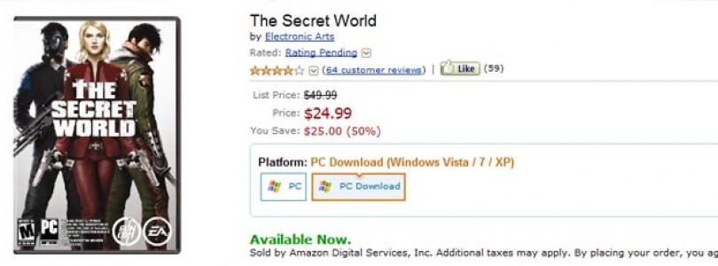 The Secret World a 25$ en Amazon.com