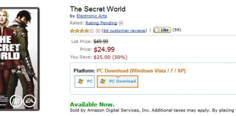 The Secret World a 25$ en Amazon.com
