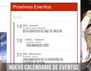 ZonaMMORPG: Añadimos un calendario con los próximos eventos