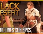 Black Desert: Relaciones con NPCs