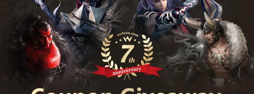 ¡Sorteamos 500 claves por el 7º Aniversario de Webzen!
