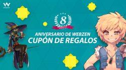 ¡Consigue tu clave de regalos Webzen y celebra el 8º aniversario!