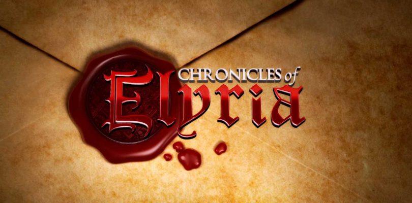 Chronicles of Elyriaenseña cuatro mapas de mundo