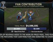 Riot donará el 25% de las ventas de ítems de las Worlds 2017 a tres causas benéficas
