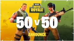 Fortnite Battle Royale presenta el modo de juego 50vs50