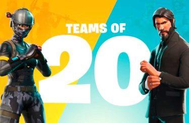 El próximo modo de juego de Fortnite Battle Royale enfrenta a 5 equipos de 20 jugadores