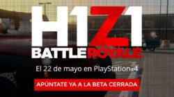 H1Z1 llegará a consolas PS4 este próximo mes de mayo, apúntate a la beta