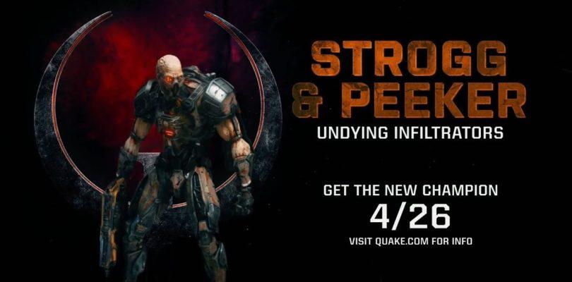 El parche de abril de Quake Champions llega con Strogg, nuevo mapa y arma
