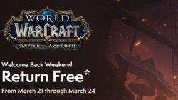 Vuelve gratis a World of Warcraft este fin de semana