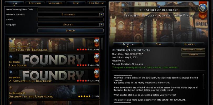 Cryptic Studios cerrará la Foundry, la herramienta de creación de misiones y contenido