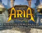 Legends of Aria mejora las monturas y regala un caballo etéreo
