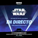 Fortnite emitirá una escena de la próxima película de Star Wars