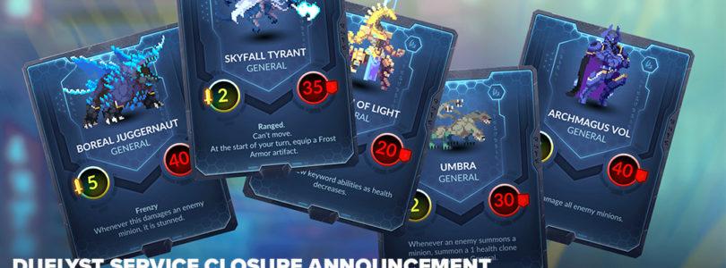 El juego de cartas Duelyst cerrará sus puertas a final de febrero