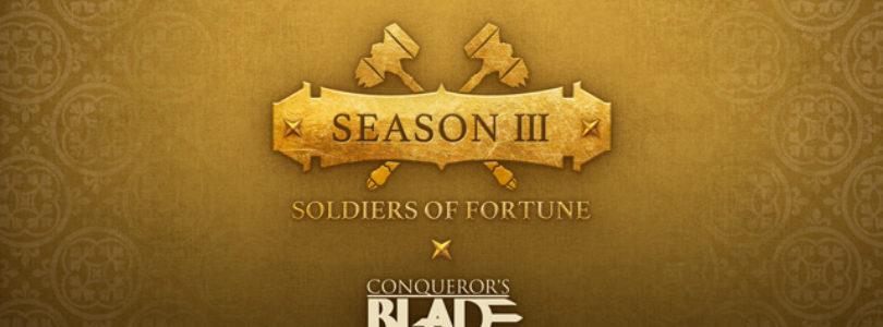 Conqueror's Blade lanza hoy su nueva temporada Season III: Soldiers of Fortune