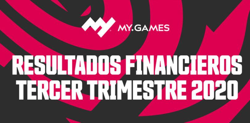 MY.GAMES anuncia una subida del 33% en los ingresos del tercer trimestre de 2020