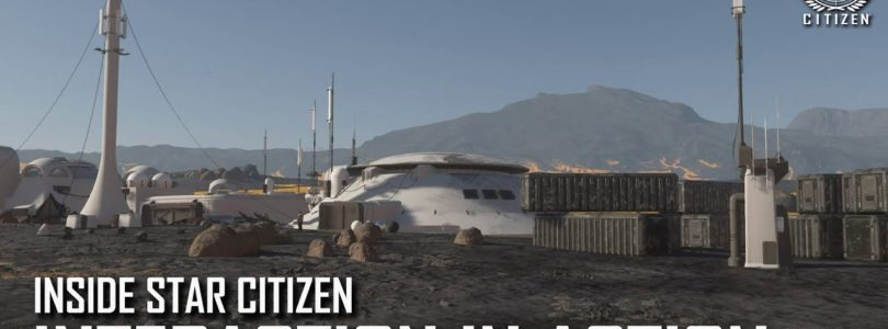 Star Citizen nos muestra la interacción del personaje con objetos, el radar y las ciudades coloniales