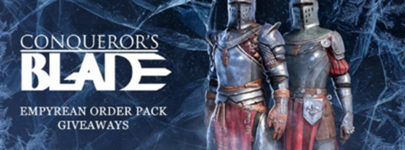 ¡Repartimos 95 códigos para Conqueror's Blade! Ven y consigue tu pack Empyrean Order