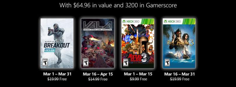 Ya sabemos los juegos «Games with Gold» de marzo de 2021