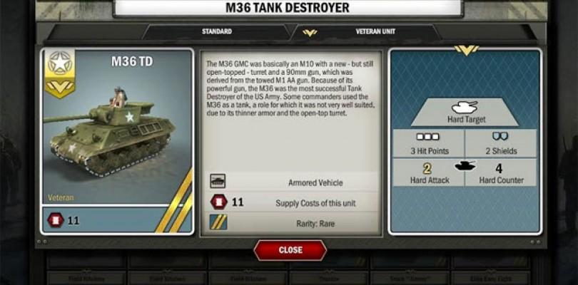 Panzer General Online añade la Fusion, una nueva mecánica del juego