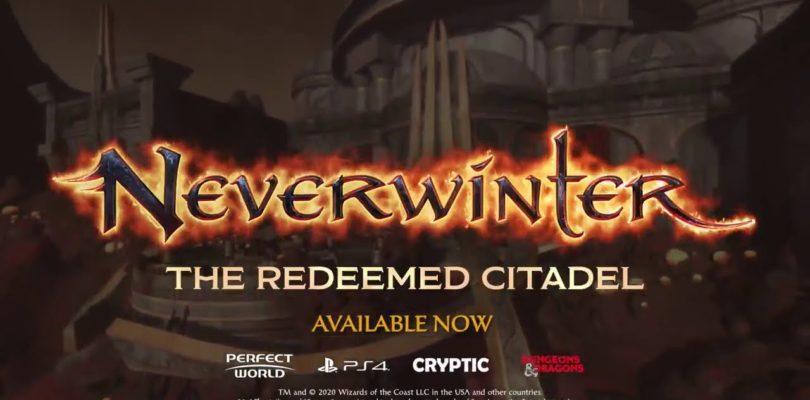 La entrega final de Neverwinter: The Redeemed Citadel ya está disponible en PS4 y Xbox One
