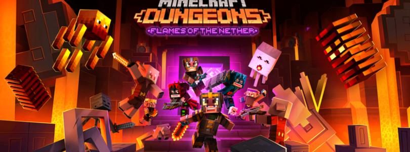Ya disponible el DLC Las llamas del Inframundo de «Minecraft Dungeons»