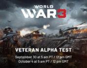 Arranca la prueba 'Veteran Alpha Test' de World War 3