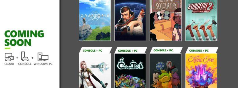 En septiembre llegan al Xbox Game Pass: Final Fantasy XIII, Craftopia, Breathedge y otros…