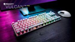 Roccat anuncia la versión blanca del teclado Vulcan Pro